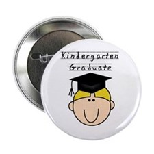 Boy Kindergarten Grad (blond) Button