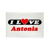 I Love Antonia Rectangle Magnet (100 pack)