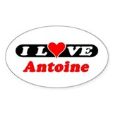 I Love Antoine Oval Decal