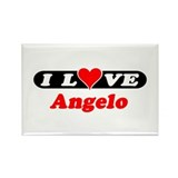 I Love Angelo Rectangle Magnet (100 pack)