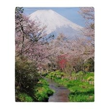 Spring of Mount Fuji Throw Blanket