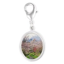 Spring of Mount Fuji Silver Oval Charm