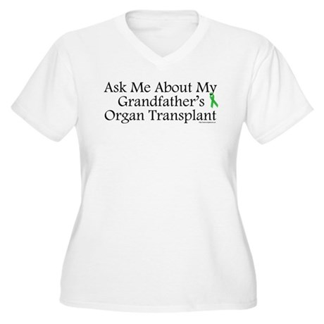 Ask Me Grandpa Trans Women's Plus Size V-Neck T-Sh