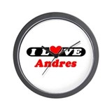 I Love Andres Wall Clock
