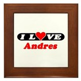 I Love Andres Framed Tile