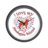 Love Buhund Wall Clock