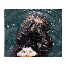 California sea otter Throw Blanket