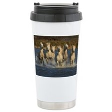 White horses of Camargu Travel Mug