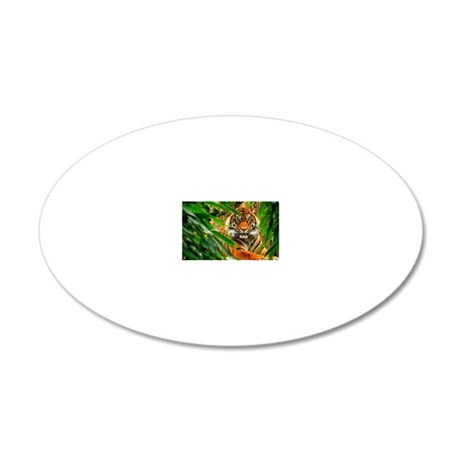 Bengala tiger 20x12 Oval Wall Decal
