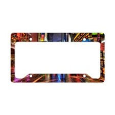 Times Square at night License Plate Holder