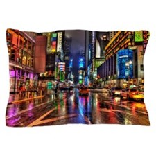 Times Square at night Pillow Case