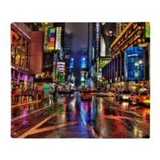 Times Square at night Throw Blanket