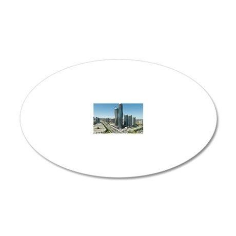 Mississauga downtown 20x12 Oval Wall Decal