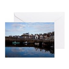The village of Findochty, Scotland Greeting Card
