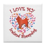 Love Sheepdog Tile Coaster