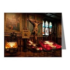 Crucifix and side altar, Not Note Cards (Pk of 20)