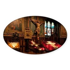 Crucifix and side altar, Notre Dame Decal
