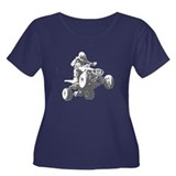 ATV Racing Women's Plus Size Scoop Neck Dark T-Shi