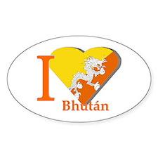 I love Romania Oval Stickers