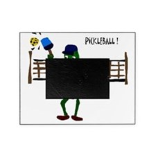 Pickle Playing Pickleball Picture Frame