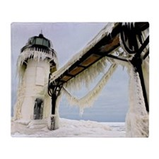 St. Joseph lighthouse Throw Blanket