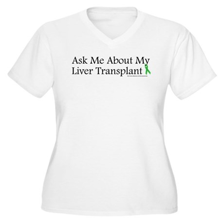 Ask Me Liver Women's Plus Size V-Neck T-Shirt
