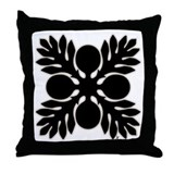 Hawaiian Quilt Breadfruit Throw Pillow