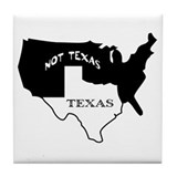 Texas / Not Texas Tile Coaster
