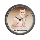 Cat Attitude Wall Clock