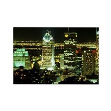Montreal skyline at night, Canada Rectangle Magnet
