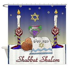 Judaica Shabbat Shalom Shower Curtain
