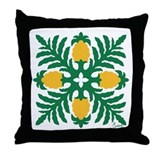 Hawaiian Quilt Pineapple Throw Pillow