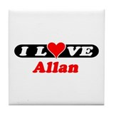 I Love Ali Tile Coaster