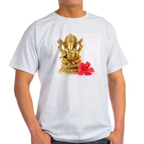 Statue of Lord Ganesh Light T-Shirt