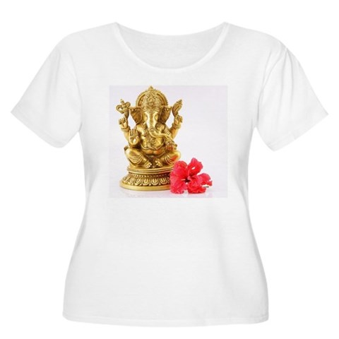 Statue of Lor Women's Plus Size Scoop Neck T-Shirt