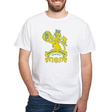 White T-shirt Ukrainian Futbol, soccer, football