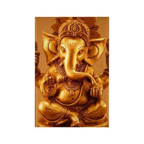Statue of Lord Ganesh, Close-up Rectangle Magnet