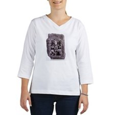 Lord Ganesh engraved on a stone Women's Long Sleeve Shirt (3/4 Sleeve)