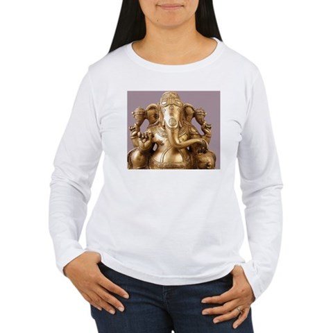 Statue of Lord Ganesh Long Sleeve T-Shirt