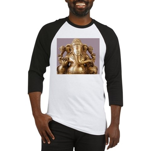 Statue of Lord Ganesh Baseball Jersey