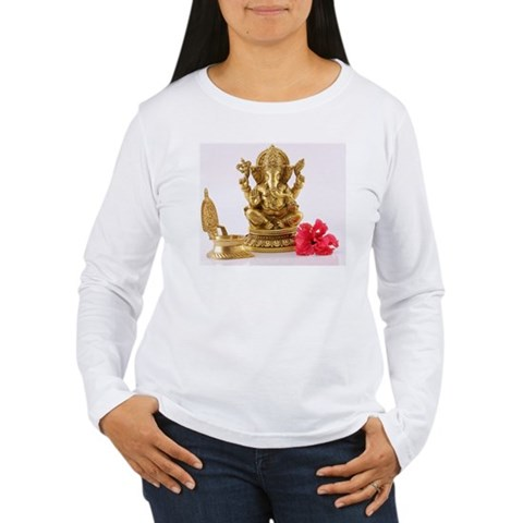 Statue of Lord Ganesh Women's Long Sleeve T-Shirt