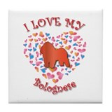 Love Bolognese Tile Coaster