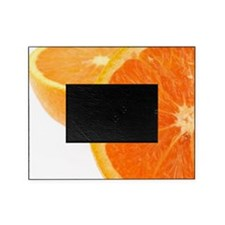 Two halves of an orange, partial vie Picture Frame