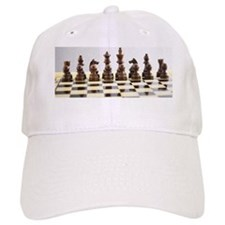 Chess pieces on chess board Baseball Cap