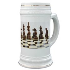 Chess pieces on chess board Stein