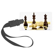 Chess pieces on chess board Luggage Tag