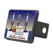 Judaica Shabbat Shalom Hitch Cover