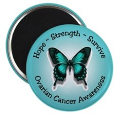 "Ovarian Cancer Awareness 2.25"" Magnet (100 pack)"