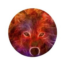 "Fire Wolf 3.5"" Button"