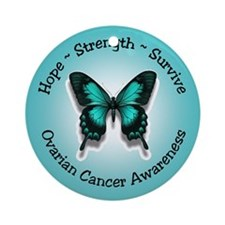 Ovarian Cancer Awareness Ornament (Round)
